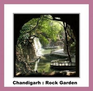 Chandigarh chutes d'eau au Rock garden