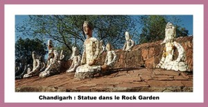 chandigarh ; statue dans le rock garden